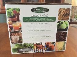 Omega J8006HDC Masticating Juicer/Nutrition Center Black/Chrome NIB