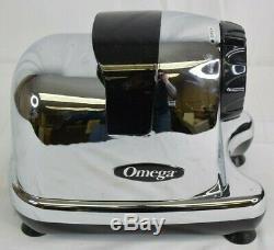 Omega J8006HDC Power Juicer Fruit Vegetable Fresh Juice in Chrome 2 Speed
