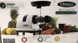 Omega J8006HDS Ultimate Juicer and Nutrition System Silver