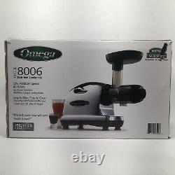 Omega J8006 HD Quiet Dual-Stage Slow Speed Masticating Juicer EUC Free Shipping