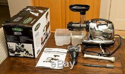 Omega J8006 Ultimate Juicer and Nutrition System Black/Chrome, Used but Great