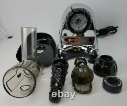 Omega J8008C Juicer Chrome Nutrition System Low Speed Excellent Cond Free SH