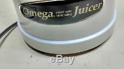 Omega Juicer Fruit Vegetable Juice Extraction Health Drink Maker Machine White