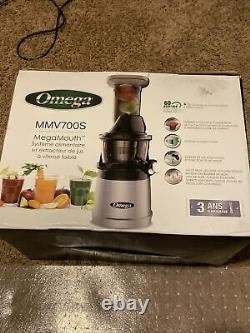 Omega Mmv700s Megamouth Low Juicer&nutrition System New