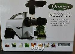 Omega NC800HDS Juice Extractor and Nutrition Center Creates Fruit Vegetable