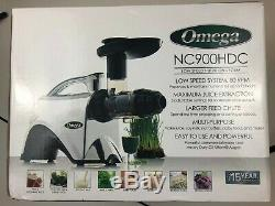Omega NC900HDC Juicer Chrome Juice Extractor & Nutrition Center Great Condition