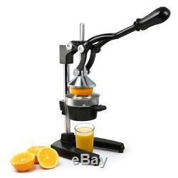 Orange Hand Press Commercial Pro Manual Citrus Fruit Lemon Juicer Juice Squ Y1V5
