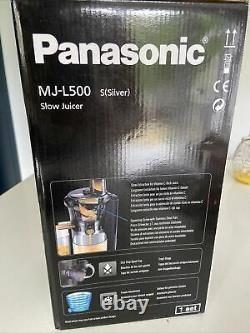 Panasonic MJ L500 Slow Juicer NEW