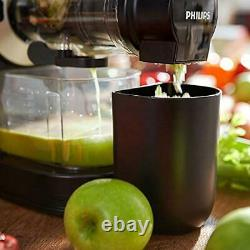 Philips HR1889/71 Viva Cold Press Masticating Slow Juicer with X-Large Feed