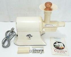 Plastaket Champion Juicer Vintage Heavy Duty Vegetable Fruit Juice 1/3 HP Motor