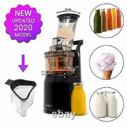Powerful Masticating Juicer for Whole Fruits and Vegetables, Fresh Healthy