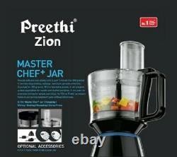 Preethi Zion MG-227/MG227 750W Juicer Mixer Grinder (Black, 4 Jars) Free Shipping