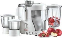 Prestige Champ 550 W Juicer Mixer Grinder (White, 3 Jars) Free Shipping