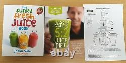 Retro Super Fast Centrifugal Juicer Union Jack With 2 Jason Vale Juice Books NEW
