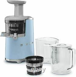 SMEG Blender SJF01PBEU, 150 W, 16.9oz, Stainless Steel, Blue Pastel