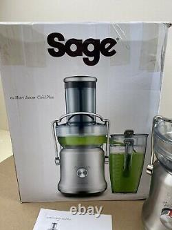 Sage Nutri Juicer Cold Plus SJE530BSS Brushed Stainless Steel Blender Kitchen