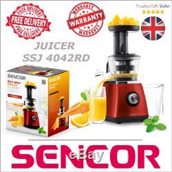 Sencor slow juicer SSJ 4042RD juice extractor red electric fruit healthy diet