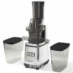 Slow Juice Extractor 400W Chrome Premium Juicer Fruit Press