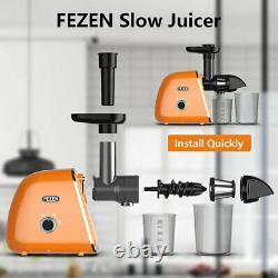 Slow Juicer Masticating Juicer Machine Cold Press Extractor Easy Clean Quiet