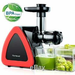 Slow Masticating Juicer Fruit Vegetable Fresh Juice Compact Machine with Cup