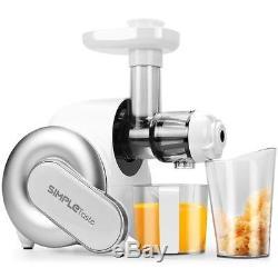 Slow Speed Nutrition Center Masticating Juicer Vegatables Fruits Juice Maker New