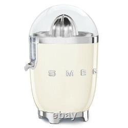 Smeg CJF01CRUK Cream 50s Style Retro Citrus Juicer + 2 Year Warranty (New)