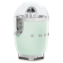 Smeg CJF01PGUK Pastel Green 50s Style Retro Citrus Juicer + 2 Year Warranty