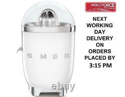 Smeg CJF01WHUK White 50s Style Retro Citrus Juicer + 2 Year Warranty (New)