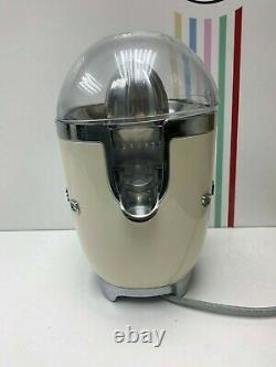 Smeg Citrus CJF01CRUK Juicer 50s Retro Style- return-60 day warranty-Cream