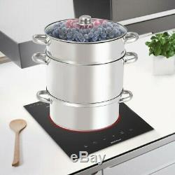 Stainless Steel Fruit Juicer Steamer Cook Vegetable Cooker Multi Juice 11 Quart
