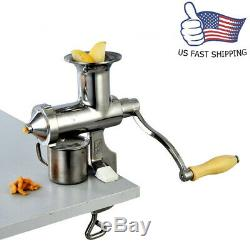 Stainless Steel Hand Juicer Manual Wheat Grass Squeezer Fruit Juice Extractor US