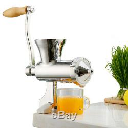Stainless Steel Manual Hand Juicer Fruit and Vegetable Juice Extractor
