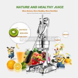 Stainless Steel Manual Hand Press Juicer Squeezer Citrus Fruit Juice Extractor