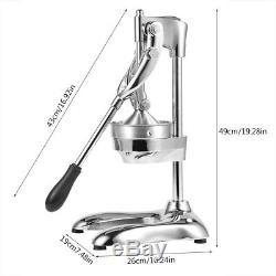 Stainless Steel Manual Hand Press Juicer Squeezer Citrus Fruit Juice Extractor G