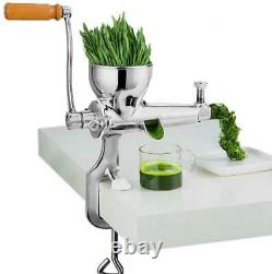 Stainless Steel Slow Juicer Hand Manual Fruit Juice Wheat Grass Juice Extractor