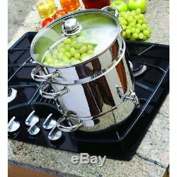 Stainless Steel Stove Top Steam Juicer Deluxe Home Kitchen Fruit Juice Extractor