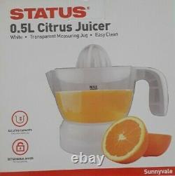 Status Citrus Fruit Juicer Juice Press Electric Extractor 30W White 0.5 Ltr