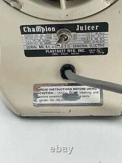 The Champion Juicer Heavy Duty Juicer Model G5-NG-853S (Motor Only)