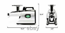 Tribest GSE 5050 Greenstar Elite Cold Press Complete Masticating Juicer Chrome