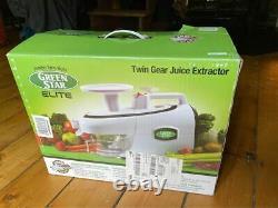 Tribest Green Star Elite Factory Masticating Slow Juicer White