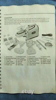 Tribest Green Star Elite Factory Masticating Slow Juicer White GSE-5000