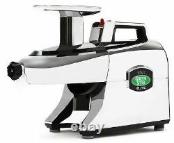 Tribest Greenstar Elite GSE-5050 Jumbo Twin Gear Slow Masticating Juicer Chrome