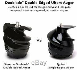 Tribest Slowstar Vertical 2-in-1 Cold Press Slow Juicer & Mincer Duoblade Auger