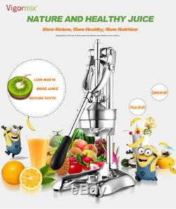 UK EU plug Stainless Manual Hand Press Juicer Squeezer Fruit Juice Extractor