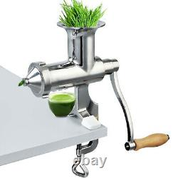 VEVOR Manual Wheatgrass Juicer Wheatgrass Grinder Tabletop Clamp Juice Extractor