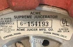 VTG Acme Supreme Juicerator Juicer WithBox & Booklet Commercial