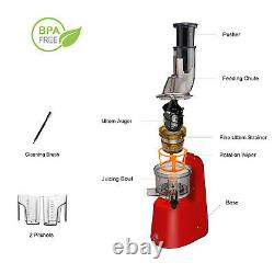 Ventray Slow Press Masticating Juicer Electric Juice Extractor Large Feed Chute