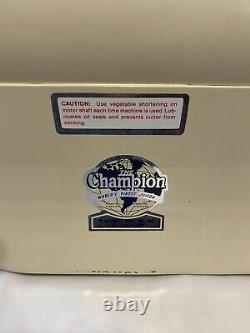 Vintage The CHAMPION JUICER Heavy Duty Juice Masticating Extractor G5-NG-853S