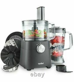 Vonshef 750W Food Processor Blender Chopper Juicer Dough Mixer 2 Speed & Pulse