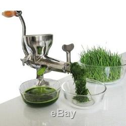 Wheatgrass Juicer Manual Slow Squeezer Stainless Steel Extractor Machine Fruit